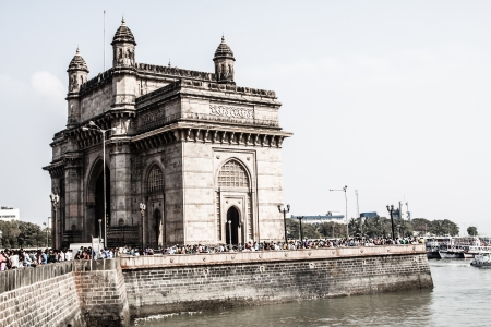 Gateway To India in city of Bombay, India  ( HDR image )