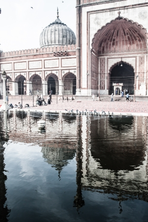 mughal: Jama Masjid Mosque, old Delhi, India. ( HDR image ) Stock Photo