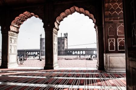 imam: Jama Masjid Mosque, old Delhi, India. ( HDR image ) Editorial