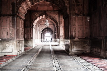Jama Masjid Mosque, old Delhi, India. ( HDR image ) Stock Photo