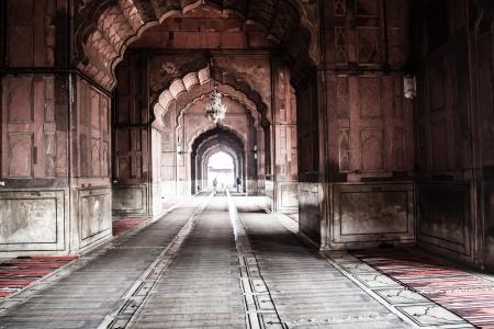 hdr: Mosqu�e Jama Masjid, le vieux Delhi, en Inde. (Image HDR) Banque d'images