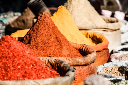 Traditional spices market in India. ( HDR image ) Standard-Bild
