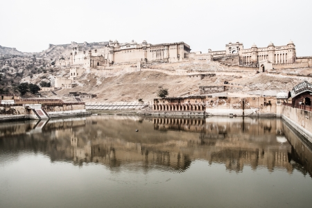 maharaja: Beautiful Amber Fort near Jaipur city in India. Rajasthan ( HDR image )