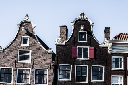 Typical Amsterdam architecture with bikes ( HDR image ) photo