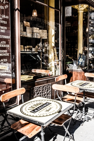 brasserie: Parisian bistro at the start of the day ( HDR image )