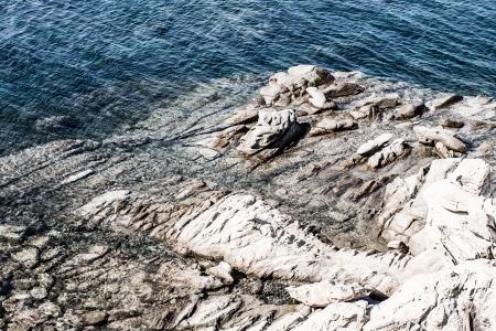 azure coast: Azure coast of Greece, Zakynthos Island ( HDR image ) Stock Photo