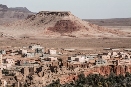 Moroccan village in Antiatlas Mountains, Africa ( HDR image ) Stock Photo - 17235901