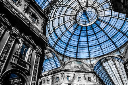 mil�n: Galer?a de Vittorio Emanuele - Milan (HDR) Editorial