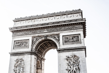 charles de gaulle: Arch of Triumph on the Charles De Gaulle square. Paris, France ( HDR image ) Stock Photo
