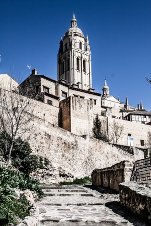 The famous ancient aqueduct in Segovia, Castilla y Leon, Spain ( HDR image ) Stock Photo - 17356509
