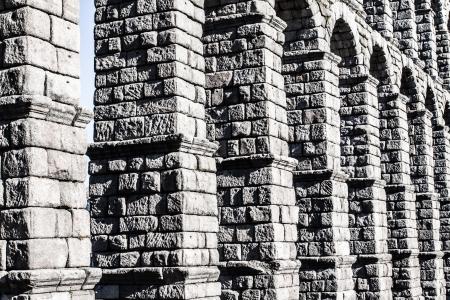 The famous ancient aqueduct in Segovia, Castilla y Leon, Spain ( HDR image ) Stock Photo - 17410605