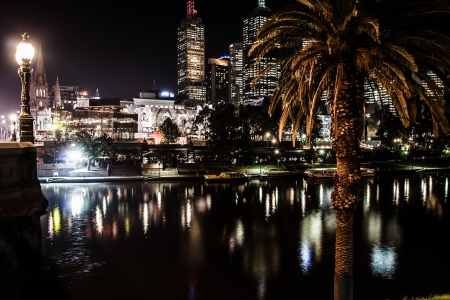 Melbourne at night Stock Photo - 17465881