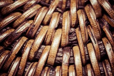 ccloseup: Detail of interlaced rattan fibers in macro  Stock Photo
