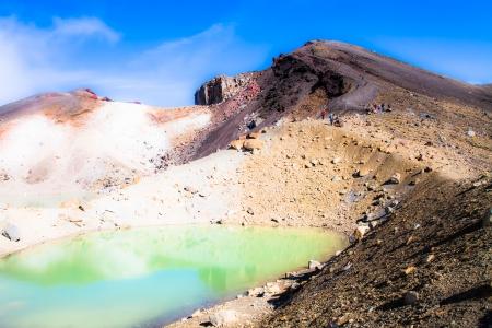 tongariro: Emerald Lakes Parque Nacional de Tongariro, Nueva Zelanda Foto de archivo