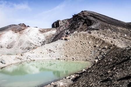 crater highlands: Emerald Lakes Parque Nacional de Tongariro, Nueva Zelanda Foto de archivo