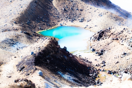 Emerald Lakes Tongariro National Park, New Zealand  photo