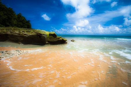 Landscape photo of tranquil island beach  photo