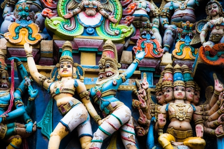kerala culture: Details of Meenakshi Temple - one of the biggest and oldest temple in Madurai, India.