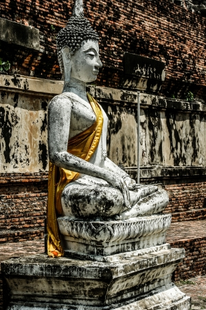 Ruined Old Temple of Ayutthaya, Thailand, ( HDR image ) Stock Photo - 17607696