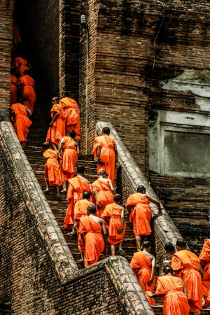 sri: Monks in Ayutthaya, Thailand