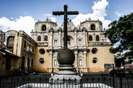 mid afternoon: Typical architecture in Antigua Guatemala