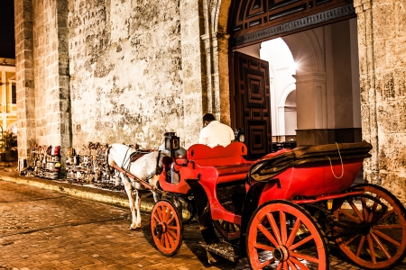 Cartagena de Indias at night, Colombia Standard-Bild