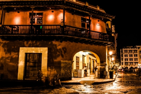 Cartagena de Indias at night, Colombia photo