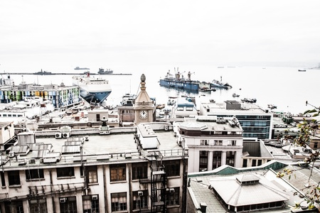 Panoramic view on Valparaiso, Chile, UNESCO World Heritage. ( HDR image ) Stock Photo - 17651117