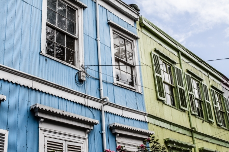 Colorful Houses in Valparaiso, Chile, UNESCO World Heritage. ( HDR image ) Stock Photo - 17653425