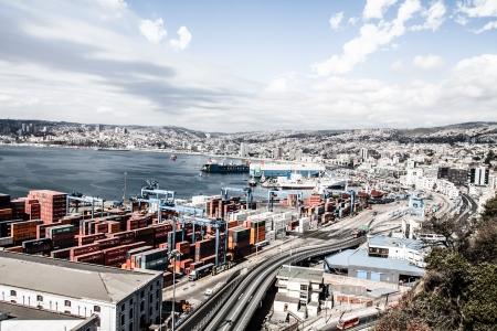 Panoramic view on Valparaiso, Chile, UNESCO World Heritage. ( HDR image ) Stock Photo - 17713824