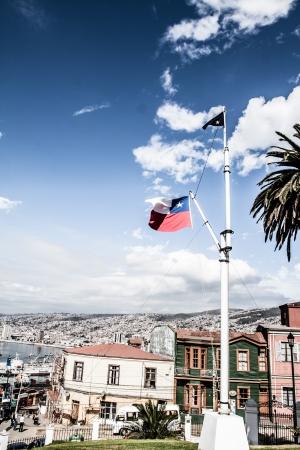 Panoramic view on Valparaiso, Chile, UNESCO World Heritage. ( HDR image ) Stock Photo - 17713815