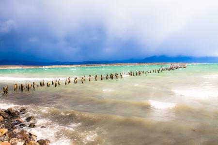 lake nahuel huapi: Blue lake in Patagonia Chile