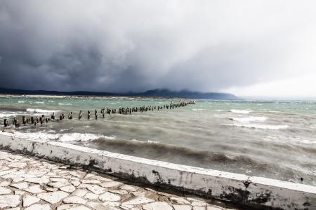 mount tronador: Blue lake in Patagonia Chile