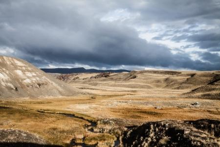 profundity: Patagonia landscape in Argentina ( HDR image ) Stock Photo