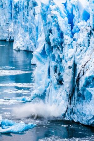 calentamiento global: Vista del magn�fico glaciar Perito Moreno, Patagonia, Argentina. (HDR) Foto de archivo