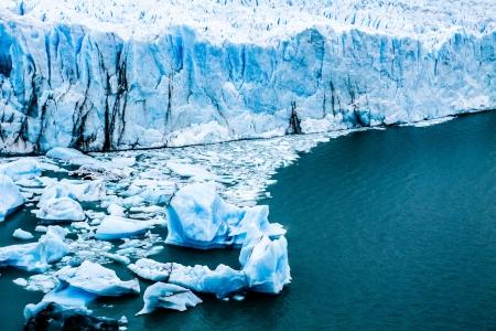 View of the magnificent Perito Moreno glacier, patagonia, Argentina. ( HDR image ) photo