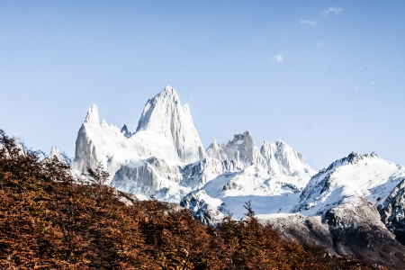 Nature landscape with Mt. Fitz Roy in Los Glaciares National Park, Patagonia, Argentina ( HDR image ) Stock Photo - 17722513