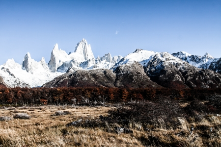 Nature landscape with Mt. Fitz Roy in Los Glaciares National Park, Patagonia, Argentina ( HDR image ) photo