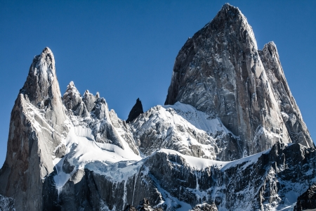 fitzroy: Nature landscape with Mt. Fitz Roy in Los Glaciares National Park, Patagonia, Argentina ( HDR image ) Stock Photo