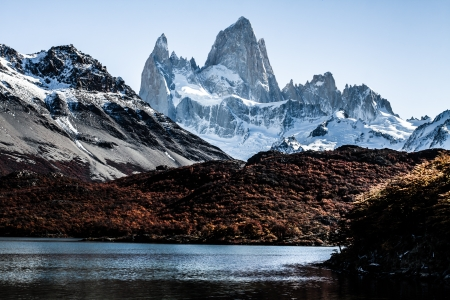 glaciares: Nature landscape with Mt. Fitz Roy in Los Glaciares National Park, Patagonia, Argentina ( HDR image ) Stock Photo