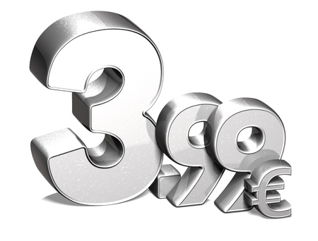 3D Silver Special Price Euro collection over white background Stock Photo - 17780562