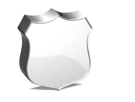 terminated: 3D Guard Silver Sign over white background