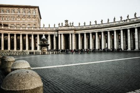 Vatican City, Vatican. Saint Peter's Square is among most popular pilgrimage sites for Roman Catholics.