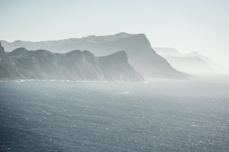 Panorama of the Cape of Good Hope South Africa  photo