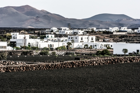 Traditional house, Lanzarote, Canary islands, Spain  photo