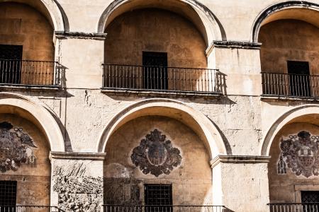 caliphate: Building facade in Cordova, Spain  Stock Photo