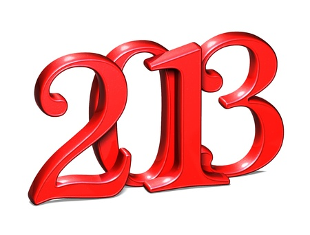 3D Year 2013 on white background  Stock Photo - 17835900