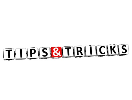 3D Tips and Tricks Crossword on white background Stock Photo - 17835952