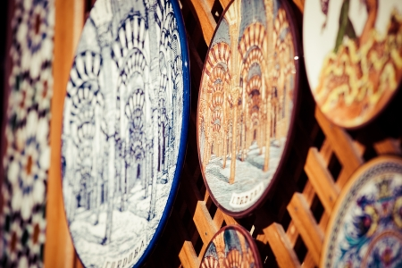 Cordoba, Spain - outdoor detail, decorative hand painted Andalusian china  photo