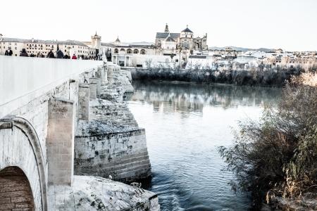 caliphate: Roman bridge in Cordoba Stock Photo